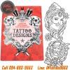[TATTOO DESIGNS] หนังสือลายสัก Creative Colouring For Grown-Ups รูปลายสักสวยๆ รูปรอยสักสวยๆ สักลายสวยๆ ภาพสักสวยๆ แบบลายสักเท่ๆ แบบรอยสักเท่ๆ ลายสักกราฟฟิก Creative Colouring For Grown-Ups Tattoo Manuscripts Flash Art Design Outline Sketch Book (A4 SIZE)