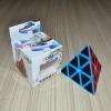 Z-Cube Pyraminx with black carbon-fibre stickers - Full Bright