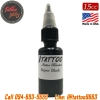 [iTATTOO] หมึกสักไอแทททู หมึกสักลายสีดำเข้มข้นสูง สีสักลายสีดำสนิท ขวดแบ่งขายขนาด 1/2 ออนซ์ สีสักนำเข้าจากประเทศอเมริกา iTattoo Tattoo Black Ink Super Black (15ML/15CC)