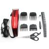 [SONAR V.4] แบตตาเลี่ยนตัดผมชายสีแดง แบตเตอเลี่ยนมีสาย แบตเตอร์เลี่ยนตัดผมเด็ก ชุดปัตตาเลี่ยนไฟฟ้าพร้อมหวีรองปัตตาเลี่ยน RED Professional Electric Hair Clipper Set For Men & Women
