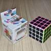 Z-Cube 4x4x4 with black carbon-fibre stickers - Full Bright