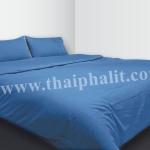 เซตผ้าปูที่นอนผ้าไมโครเทค สีน้ำเงิน (เบอร์ 15)