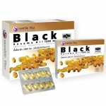 """ผลิตภัณฑ์เสริมอาหาร น้ำมันงาดำ ด้วย 8 คุณประโยชน์ของ """"สารเซซามิน"""" และแร่ธาตุสำคัญอื่นๆ ช่วยต้านการอักเสบ ลดความเสี่ยงต่อการเป็นโรคข้อกระดูกอักเสบ โรคข้อเสื่อม Black Sesame Oil 1000 mg.แบล็ค เซซามิน ออยล์ 1กล่องบรรจุ 60 cap พร้อมของแถมอีก1กล่องเล็ก"""