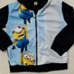 เสื้อกันหนาวมีนเนีียนสีฟ้า 3- 8 ปี ราคา 199 บาท
