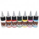 [WORLD FAMOUS] หมึกสักเวิล์ดเฟมัส หมึกสักลายเวิล์ดเฟมัส สีสักลายแม่สี7สี ขนาด 1/2 ออนซ์ สีสักนำเข้าจากประเทศอเมริกา World Famous Tattoo Ink - Wfm Simple Color Set (1/2OZ/15ML)