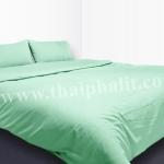 เซตผ้าปูที่นอนผ้าไมโครเทค สีเขียวอ่อน (เบอร์ 05)