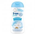 แป้งเด็กเนื้อโลชั่นดีนี่ เพียว-D-nee Pure 200 มล.ดีนี่เพียว โลชั่น พาวเดอร์ ปราศจากแอลกอฮอล์ จึงไม่ทำให้ระคายเคืองผิวลูกน้อย ปราศจากแป้งฝุ่นขณะใช้ ช่วยลดผดผื่นจากความเปียกชื้นด้วอะลัมโตอิน Allantoin ให้ความชุ่มชื่นต่อผิวลูกน้อยด้วย ส่วนผสมจากโปรตีนนม Milk