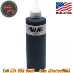 [DYNAMIC USA] หมึกสักไดนามิคสีดำเข้ม หมึกสักลาย สีสักลายสีดำ อเมริกาแท้ ขนาด 8 ออนซ์ TATTOO INK (BLACK - 8OZ/245ML)