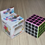Z-Cube 4x4x4 with black carbon-fibre stickers - Full Bright