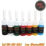 [SET 7COLORS/5CC] Raptor ชุดหมึกสักลายแร็พเตอร์คละสี 7 สี หมึกสัก สีสักลายขนาด 5 ซีซี Tattoo Ink Set (5ML - 7PC)