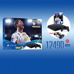 เครื่อง PS4 Slim 500GB FIFA 18 Bundle Pack Model No: PLAS-10044HC ราคา 12490.- ส่งฟรี