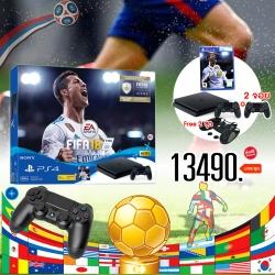 เครื่อง PS4 Slim 500GB FIFA 18 Bundle Pack [PLAS-10044HC] *2 จอย* ราคา 13490.- ส่งฟรี