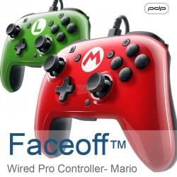 จอยโปรมีสายเปลี่ยนหน้ากากได้ ++ PBP Faceoff™ Wired Pro Controller- Mario ราคา 1390.-