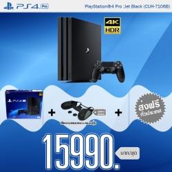 PlayStation 4™ Pro 1TB Black Asia-ศูนย์ไทย / CUH-7106B +ส่งฟรี! ราคา 15990.-