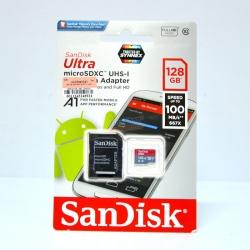 เมมโมรี่ไมโครเอสดีการ์ด ++ 128 GB Micro-SD Sandisk (Class10) ราคา 1890.-