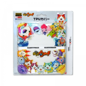 Youkai Watch TPU Cover for New 3DS LL สีขาวใส ลาย ตัวละคร Youkai Watch