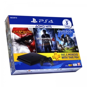"""เครื่องเกม PS4 Slim """"HITS"""" Horizon/Uncharted/GodOfWar Bundle Pack ประกันศูนย์ 1 ปี ราคา 11990.- // ส่งฟรี"""