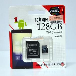 เมมโมรี่ไมโครเอสดีการ์ด ++ 128 GB Micro-SD Kingston (Class10) ราคา 1790.-