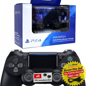 【New】Dualshock 4 Wireless Controller สีดำ รุ่นใหม่ CUH-ZCT2G