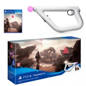 """แผ่นเกม พร้อมชุดจอยปืน Playstation® VR Aim Crontoller """"Farpoint"""" Bundle Pack ราคา 3190.- ส่งฟรี"""