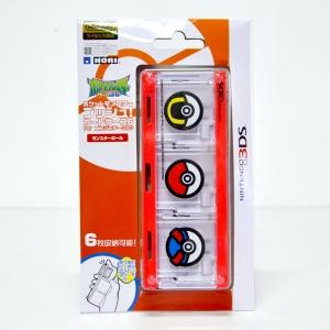 การ์ดเคส 6 ชิ้น สำหรับเก็บตลับเกม 3DS ลายโปเกมอนบอล ยี่ห้อ Hori™ 3DS-261 ของแท้ จากญี่ปุ่น ส่งฟรี!