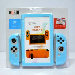 BUBM™ Soft Silicone Case Anti-slip For Switch and Joy-con Color:Light Blue ราคา 490.-