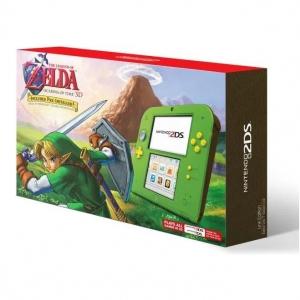 2DS ลิมิเต็ด สีเขียวเซลด้า ++ Nintendo 2DS Pre-installed The Legend of Zelda ราคา 4590.-