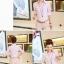 เสื้อเชิ้ตทำงานสีชมพู แขนยาว คอปก กระดุมหน้า เอวเข้ารูป เรียบง่าย thumbnail 2