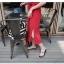 ชุดเดรสยาวสีแดง ลุคสบายๆ ทรงตรง พร้อมเข็มขัดผ้าเข้าชุด thumbnail 3