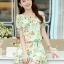 ชุดเดรสสั้นแฟชั่นเกาหลี มินิเดรสกระโปรง สีเขียวพิมพ์ลายน่ารักๆ เหมาะสำหรับใส่เที่ยววันสบายๆ เดินห้างช้อปปิ้ง ดูหนัง แบบสวยๆน่ารักๆ สไตล์สาวหวาน , thumbnail 2