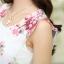 ชุดเดรสออกงาน มินิเดรสกระโปรงสั้น สีขาวพิมพ์ลายดอกไม้ สามารถใส่ไปงานแต่งงาน งานเลี้ยงโอกาสต่างๆ ให้ลุคสวย หวาน น่ารักสไตล์เกาหลี thumbnail 14