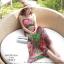 ชุดเดรสยาวใส่ไปเที่ยวทะเลสวยๆ โทนสีชมพู เขียว สายเดี่ยว เอวยืด ผ้าชีฟอง สวมใส่สบาย thumbnail 1