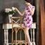ชุดเดรสทำงาน ชุดแซกทำงานสวยๆสไตล์สาวหมวย ลายดอกไม้สีชมพู คอจีน เข้ารูป ผ้าโพลีเอสเตอร์ thumbnail 6