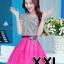 ชุดออกงานแฟชั่นเกาหลีสวยๆ มินิเดรสกระโปรงสั้น สีชมพูสดใส สามารถใส่ไปงานแต่งงาน ทำงานออฟฟิศ จะทำให้คุณกลายเป็นสาวหวาน น่ารัก ( size XXL ) thumbnail 1