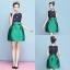 ชุดเดรสทำงานสีเขียวแนวเรียบร้อยสวยหวาน แฟชั่นชุดทำงานสาวออฟฟิศดูดีมีสไตล์ thumbnail 2