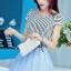 ชุดออกงานแฟชั่นเกาหลีสวยๆ มินิเดรสกระโปรงสั้น สีฟ้า สามารถใส่ไปงานแต่งงาน ทำงานออฟฟิศ จะทำให้คุณกลายเป็นสาวหวาน น่ารัก สดใส thumbnail 3