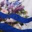 ชุดเดรสทำงานแฟชั่นสไตล์เกาหลีสวยๆ ชุดแซกกระโปรงใส่ทำงาน สีขาว พิมพ์ลายดอกไม้สัีน้ำเงิน ผ้าคอลตอลอัดลายดอกไม้ ซิปหลัง , thumbnail 11