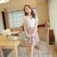 ชุดเดรสสั้นแฟชั่นเกาหลี สีชมพู พิมพ์ลายผีเสื้อ แบบสวย จะทำให้คุณเป็นสาวหวาน น่ารักๆ สามารถใส่ไปงานแต่งงาน ใส่ทำงานได้ thumbnail 2
