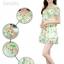 ชุดเดรสสั้นแฟชั่นเกาหลี มินิเดรสกระโปรง สีเขียวพิมพ์ลายน่ารักๆ เหมาะสำหรับใส่เที่ยววันสบายๆ เดินห้างช้อปปิ้ง ดูหนัง แบบสวยๆน่ารักๆ สไตล์สาวหวาน , thumbnail 5