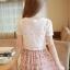 ชุดเดรสสั้นแฟชั่นเกาหลี สีชมพู พิมพ์ลายผีเสื้อ แบบสวย จะทำให้คุณเป็นสาวหวาน น่ารักๆ สามารถใส่ไปงานแต่งงาน ใส่ทำงานได้ thumbnail 7