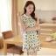ชุดเดรสสั้นแฟชั่นเกาหลี พิมพ์ลายเก๋ๆ สีสดใส เหมาะกับการใส่เที่ยวสบาย หรือ จะใส่ไปงานเลี้ยง จะทำให้คุณดูสวย สง่า มั่นใจ thumbnail 3