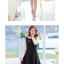 ชุดเดรสสั้นสีดำ แขนกุด ซิปหลัง เอวเข้ารูป น่ารัก thumbnail 2