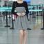 ชุดทำงานสวยๆ ชุดเดรสสั้น สีดำเทา แขนยาว กระโปรงบาน ให้ลุคสาวหวานสไตล์เกาหลี สวยหรู ดูดี เรียบร้อย ( S,M,L,XL ) thumbnail 2