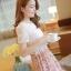 ชุดเดรสสั้นแฟชั่นเกาหลี สีชมพู พิมพ์ลายผีเสื้อ แบบสวย จะทำให้คุณเป็นสาวหวาน น่ารักๆ สามารถใส่ไปงานแต่งงาน ใส่ทำงานได้ thumbnail 6