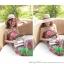 ชุดเดรสยาวใส่ไปเที่ยวทะเลสวยๆ โทนสีชมพู เขียว สายเดี่ยว เอวยืด ผ้าชีฟอง สวมใส่สบาย thumbnail 8