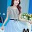 ชุดออกงานแฟชั่นเกาหลีสวยๆ มินิเดรสกระโปรงสั้น สีฟ้า สามารถใส่ไปงานแต่งงาน ทำงานออฟฟิศ จะทำให้คุณกลายเป็นสาวหวาน น่ารัก สดใส thumbnail 1