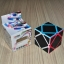 Z-Cube Skewb with black carbon-fibre stickers - Stickerless thumbnail 1