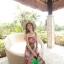 ชุดเดรสยาวใส่ไปเที่ยวทะเลสวยๆ โทนสีชมพู เขียว สายเดี่ยว เอวยืด ผ้าชีฟอง สวมใส่สบาย thumbnail 7