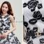 ชุดเดรสสั้นสีดำ แขนกุด แนวเกาหลีสวยๆ น่ารักๆ ใส่เป็นชุดลำลอง ชุดไปงานแต่งงานน่ารักๆ thumbnail 2