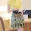 ชุดเดรสสั้นสีเหลือง เดรสกระโปรงสั้นพิมพ์ลายกราฟฟิค คอเชิ้ต แขนกุด เป็นชุดเดรสหวานน่ารัก สไตล์แฟชั่นเกาหลี ใส่ทำงาน ใส่เที่ยวช้อปปิ้ง ( M,L,XL ) thumbnail 4